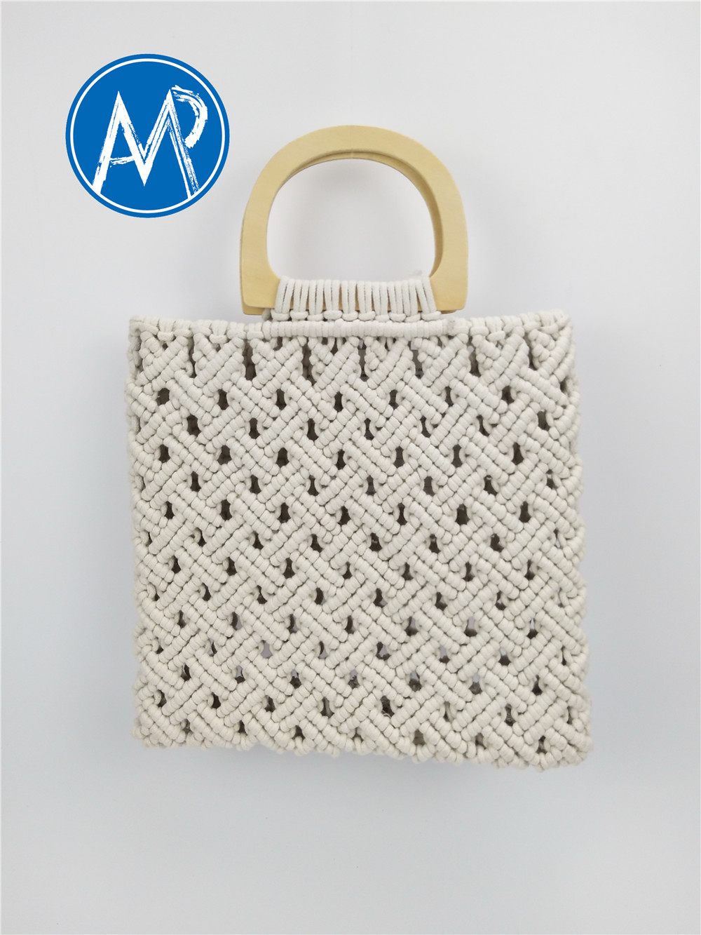 cotton woven rope bag
