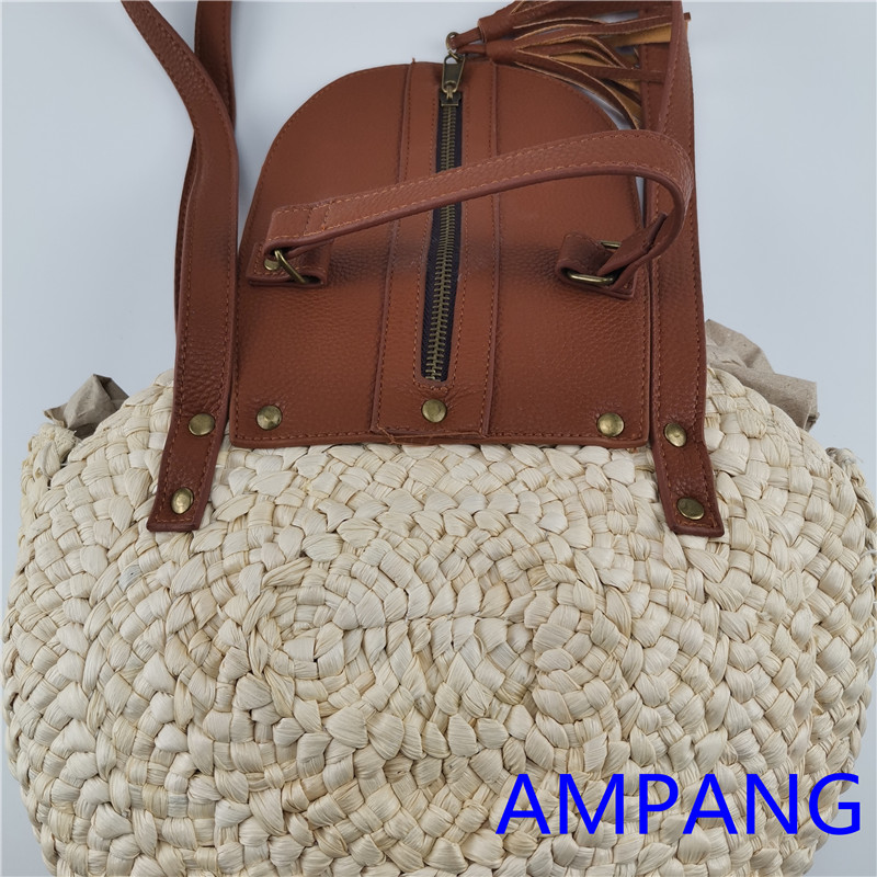 corn husk bag with PU lid